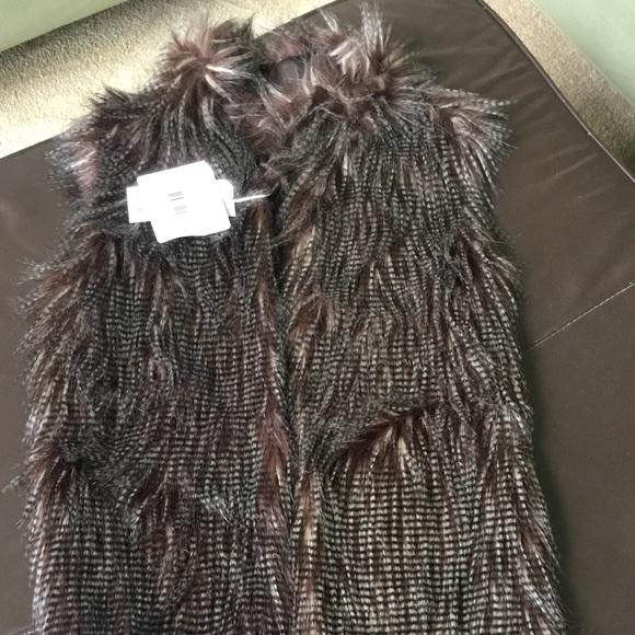 stein mart Jackets & Blazers - Fur sweater vest